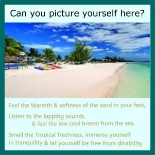 An image to guide your mind to anywhere whilst laying on the beach