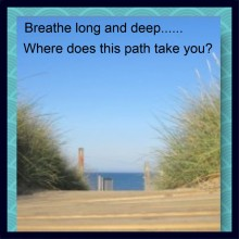 Guide yourself down the path to the...?