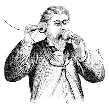 man on phone sketch