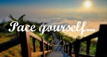 pace yourself serene pic for pacing post