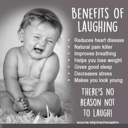 Fun pic - Benefits of laughing...