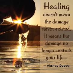 Healing doesn't mean the damage never existed....
