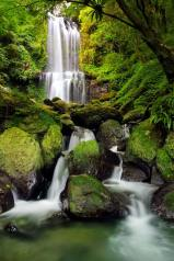 Listen to the sounds of the water rushing and feel its energy as is flows and you breathe