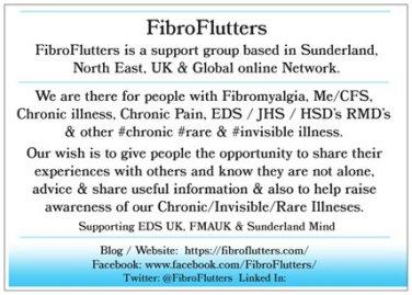 Fibro Flutters Flier BACK
