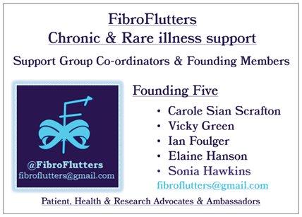 Fibro Flutters Flier FRONT