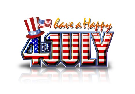 4th july white background
