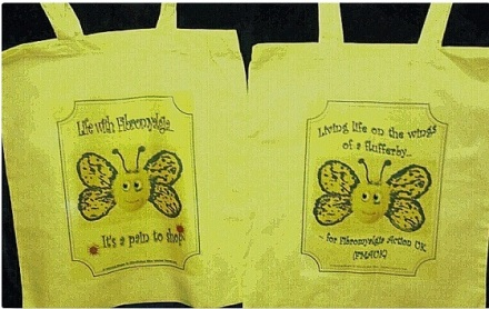 shopper bags for Fibro Awareness Day