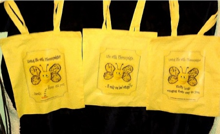 shopper bags X 3for Fibro Awareness Day